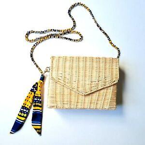Women's Zara Rattan Wicker Shoulder Handbag -Excellent Condition