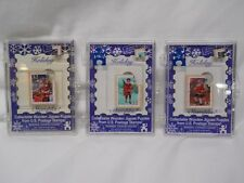 Stamples CHRISTMAS Santa Wooden Jigsaw Puzzle NEW IN ORIGINAL BOX Lot of 3