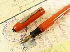 Red Orange Wearever Fountain Pen Pencil Combo - restored