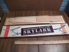 "Vintage MASTER MODELCRAFT ""SKYLARK"" Wood Airplane Model Kit"