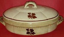 Antique H. Alcock & Co Tea Leaf Pattern Ceramic Porcelain Oval Vegetable Dish
