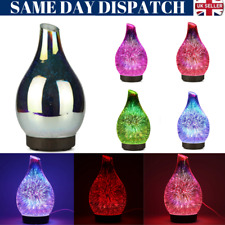 3D Firework Glass Essential Oil Aroma Diffuser LED Ultrasonic Humidifier 120ml