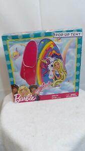 "Barbie Pop Up Tent Unicorn Mattel Dreamtopia Chelsea Sister 28"" L X 28""W  X 33""H"