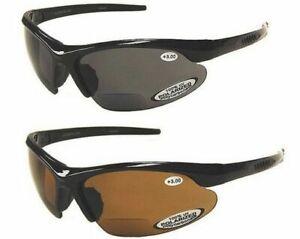 BiFocal Polarized Sunglasses Fishing Reading Mens 100% UV Wrap Around TR90 Frame