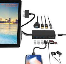 12 IN 1 Surface Pro Docking Station 4 / 5 / 6 Hub w/ 4K HDMI, VGA, 3XUSB, SD, TF