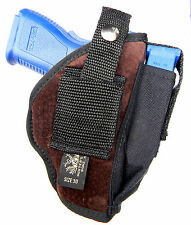 GENUINE SUEDE USA-MADE CLIP-ON/BELT SLIDE HOLSTER for SPRINGFIELD XDS 9 45
