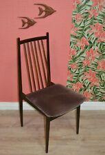 vintage fin Sixties Chaise DANISH DESIGN eßzimmerstuhl sprossenstuhl 6xerh