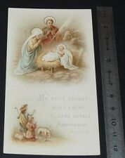 CHROMO 1900-1920 IMAGE PIEUSE CATHOLICISME CRECHE STE FAMILLE RELIGION JESUS
