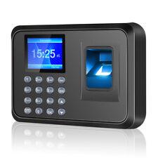 "Fingerprint Attendance Machine 2.4"" TFT LCD Biometric Fingerprint Time Clock BLK"