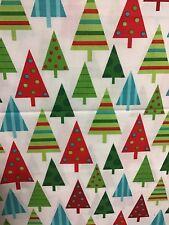 Christmas 100% Cotton Fabric 3m Jingle Robert Kaufman Christmas Trees CRAFT