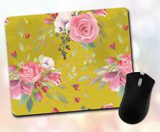 Flower Mouse Pad • Watercolor Floral Colorful Pretty Gift Decor Desk Accessory