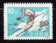 KOREA 1961 **MNH SC#374 10ch, Winter sports - skiier.