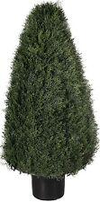 """42"""" Artificial Outdoor Cypress Cedar Cone UV Topiary Bush Tree 3' 6"""" Porch Pool"""