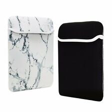 "13-Inch White Marble Reversible Sleeve Bag for 13"" Macbook /Air/Pro/ Chrome"