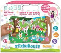 Fiesta Crafts STICKABOUTS FAIRIES Reusable Sticker Toy BN