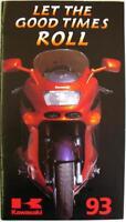 KAWASAKI 1993 Range Motorcycle Sales Brochure 1993 #99985-102-93