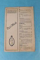 VINTAGE 1936 PIG'N WHISTLE RESTAURANT DINNER MENU CALIFORNIA