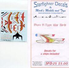 STARFIGHTER DECALS Star Trek: R-Type Warbirds Markings for 6 Ships SFA25