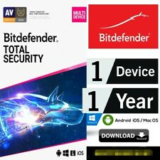 BitDefender Total Security 2020 / 2021 | 1 Devices 1 Year License 100%...