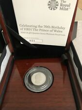 The 70th Birthday HRH Prince Wales UK 1/4oz Quarter-Ounce Platinum Proof Invest