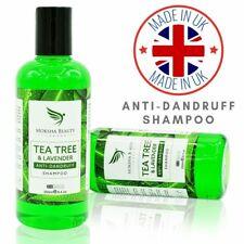 Tea Tree Oil Anti Dandruff Shampoo [Made In UK] For Dry Itchy Flaky Scalp Hair