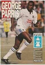 George PARRIS West Ham Utd 1984-1993 mano originale firmato PICTURE