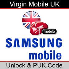 Virgin Mobile UK Samsung Unlock & PUK Code (FAST/SAME WORKING DAY PROCESSING)