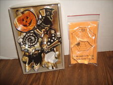 Halloween COOKIE CUTTERS Lot of 7 NEW- Spider Web Bat Witch Ghost Pumpkin Cat