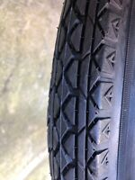 26 x 2.125 balloon bicycle tire BLACK good for OLD bicycles.VINTAGE look 1 TIRE
