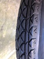 26 x 2.125 balloon bicycle tires  BLACK good for earlier bicycles.VINTAGE look