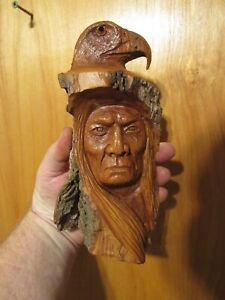 Wood Spirit Carving Wood Spirit Native American Indian Eagle Wind Spirit