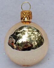 VINTAGE KREBS FEATHER TREE GOLD MERCURY GLASS BALL CHRISTMAS ORNAMENT