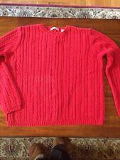 Valerie Stevens Cable Sweater sz M