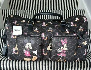 Primark Disney Mickey & Minnie Mouse Monogram Weekend Holdall Travel Bag - BNWT
