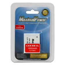 Battery for Canon NB6L NB-6L PowerShot D10, D20, ELPH 500 HS, S90, S95, S120