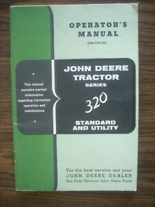 JD John Deere 320 Standard 320 Utility Owners Manual