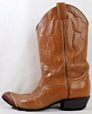 Tony Lama Women's Boots Size 7C Brown Leather Cowboy Western 7070 Distressed