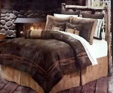 7-Pc. Queen Comforter Set BARBED WIRE Country Western Rustic Bedding Decor