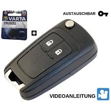 Klapp Schlüssel Gehäuse für 2-Tasten Opel Astra J,Corsa E  Fernbedienung-OLJ2GEB