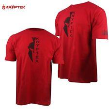 Kryptek Spartan Vertical w/Sleeve Flag T-Shirt (XL)- Red