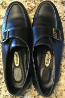 Rockport Women's Black Slip On Leather Oxfords With Buckle Detail Size 7.5 M