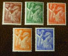 FRANCE 1939 Iris set of 5 vf MINT hinged SG 642 - 643c