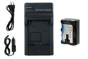 Batteria + Caricabatteria BN-VG114 con INFOCHIP per JVC GZ-EX355, EX510