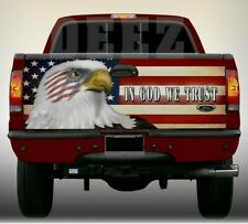 Tailgate Wrap American Flag American Eagle In God We Trust Vinyl Tailgate Wrap