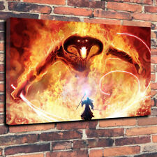 "Gandalf vs The Balrog Printed Canvas Picture A1.30""x20"" 30mm Lord Of The Rings.."