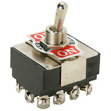 4PDT Heavy Duty Toggle Switch Center Off