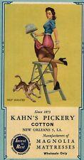 Ink Blotter Kahn's Pickery Cotton New Orleans Sexy Woman Magnolia Mattresses