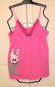 Juniors Hello Kitty Cute Sleep Top, Size Large, Color Pink, New without Tags