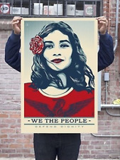 SIGNED Defend Dignity print We the People Obey Giant Shepard Fairey chevrier pez