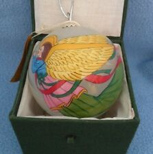 ANGEL DESIGN GLASS ORNAMENT – HANDPAINTED FROM THE INSIDE